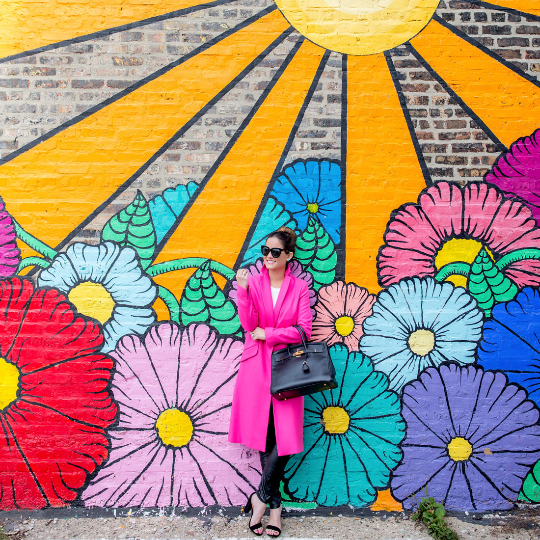 Floral Sun Mural Chicago