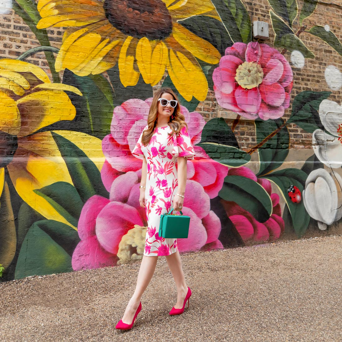 Louise Jones 0uizi Floral Mural Chicago West Town
