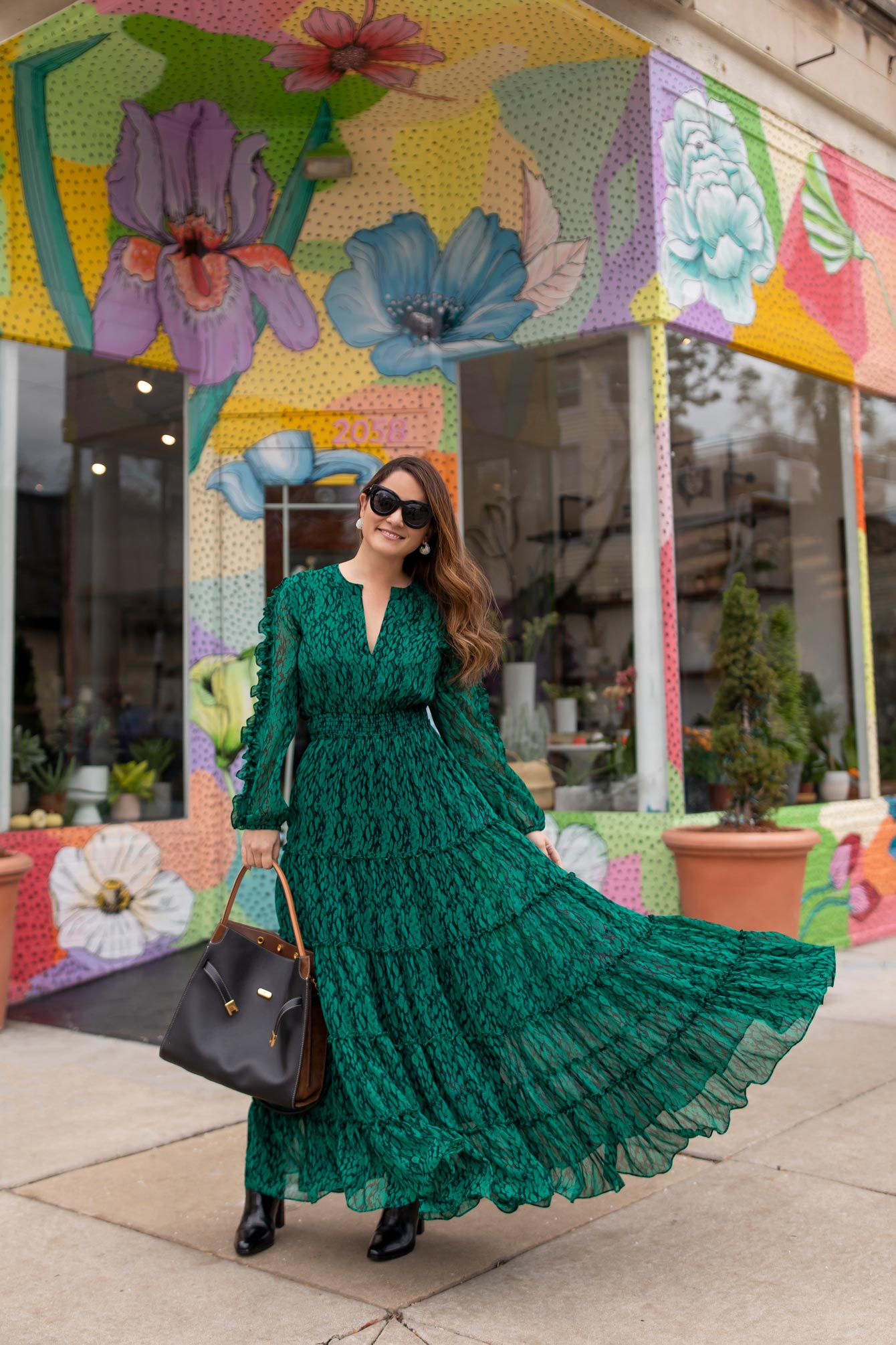 MISA Los Angeles Green Dress