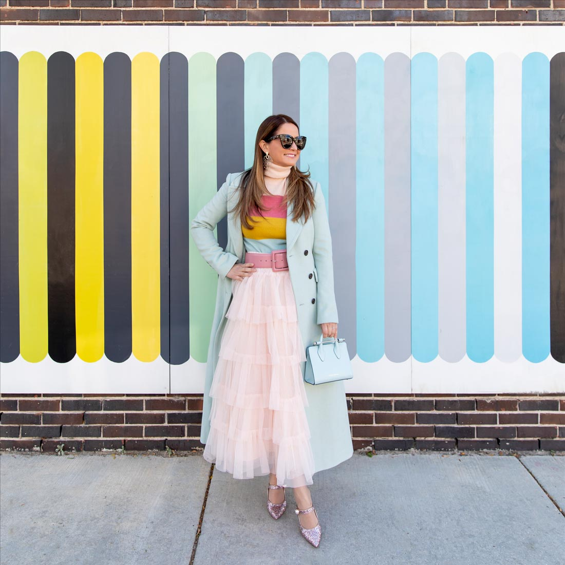 Ombre Stripe Mural Wicker Park Chicago