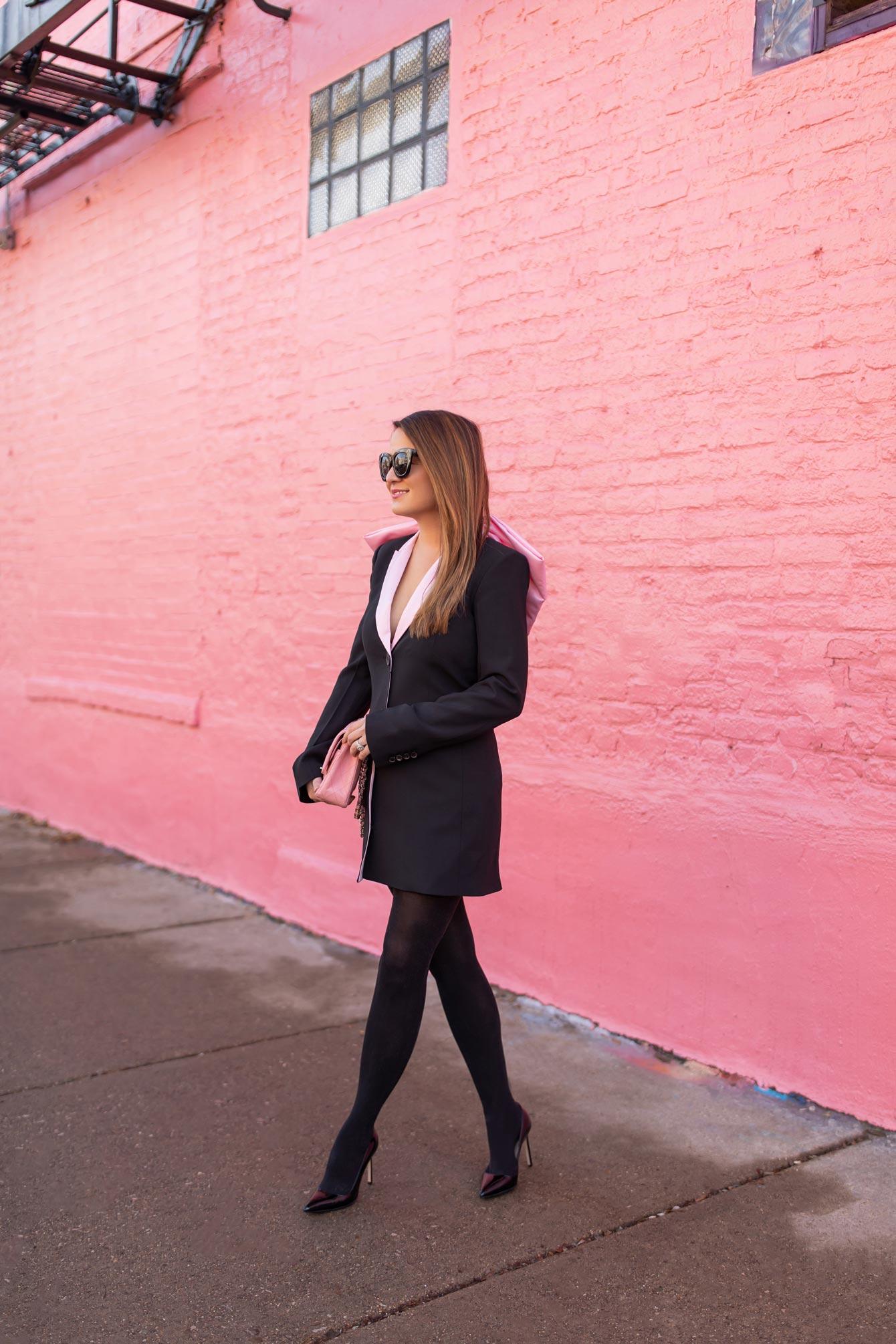 Style Charade Pink Bow Blazer Zara