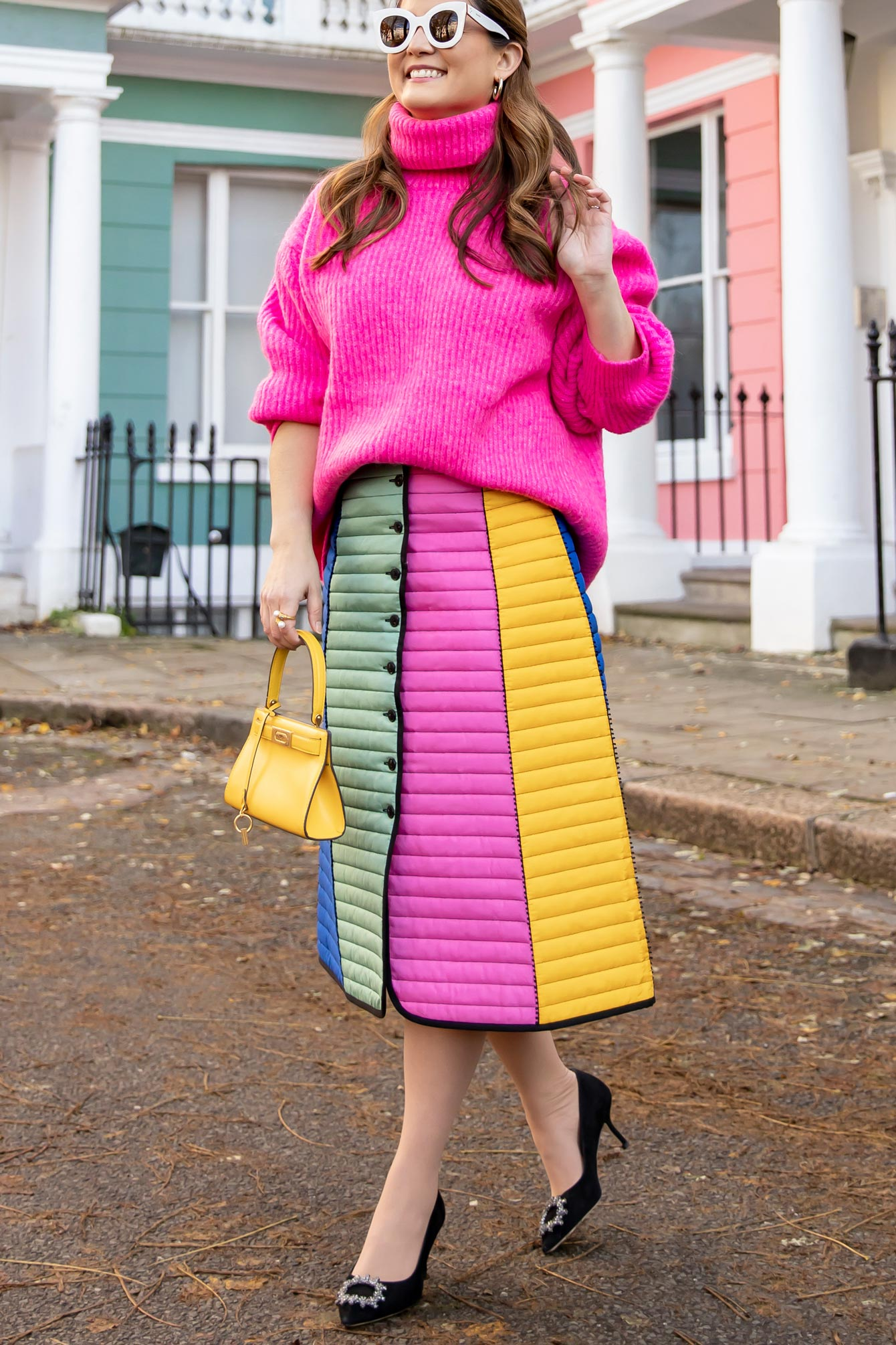 Tory Burch Quilted Rainbow Skirt