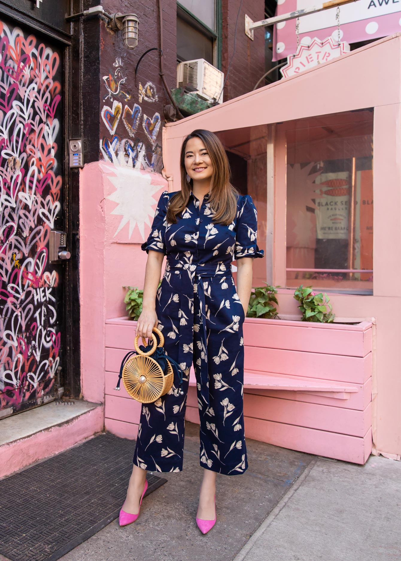 Gal Meets Glam Navy Jumpsuit