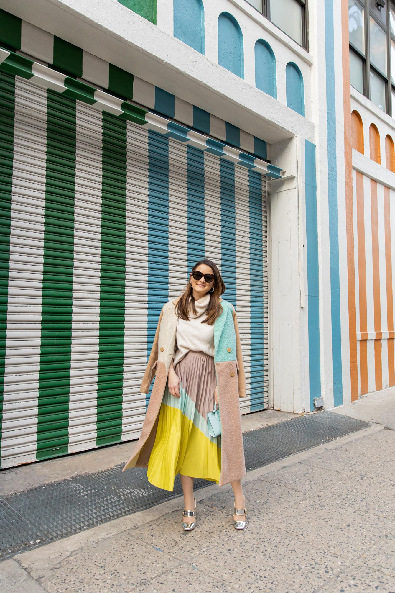 Multicolor Stripe Mural New York City
