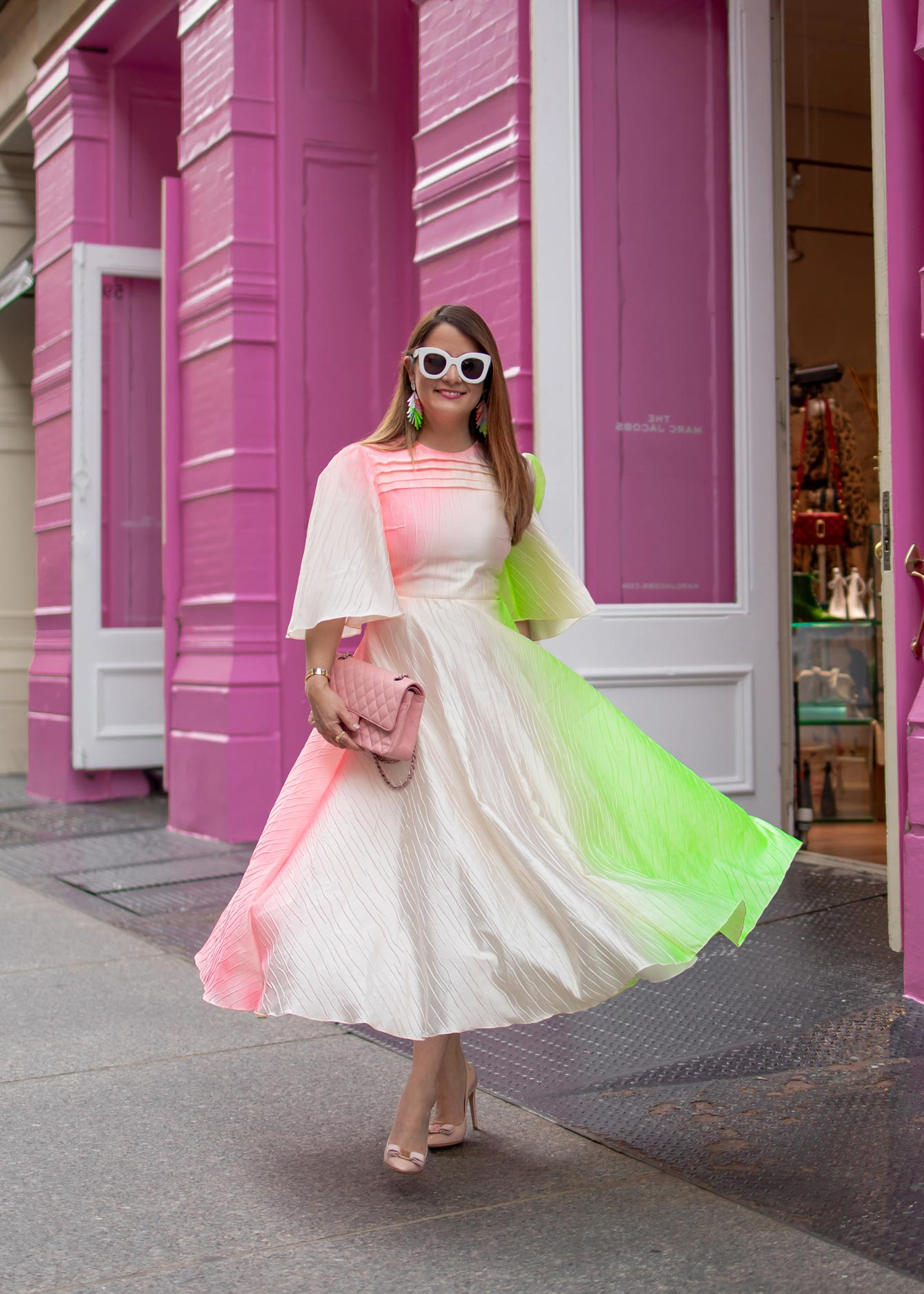 Roksanda Pink Green Ombre Dress