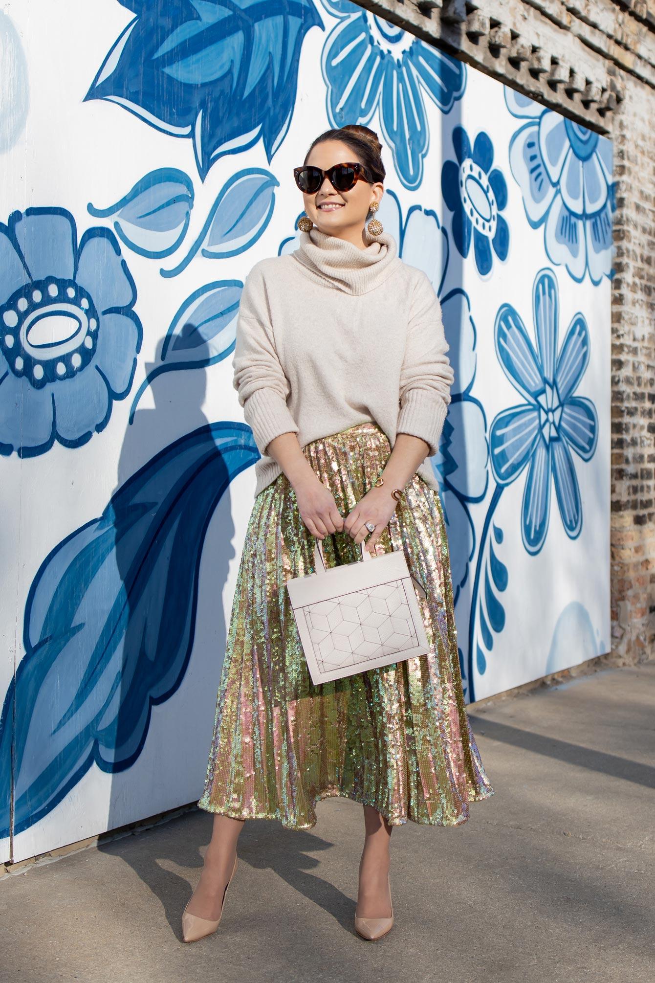 ASOS Sequin Midi Skirt