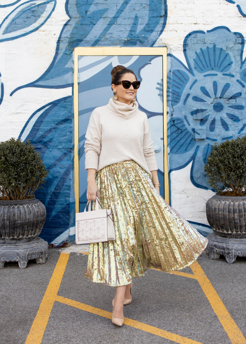 Jennifer Lake ASOS Sequin Skirt