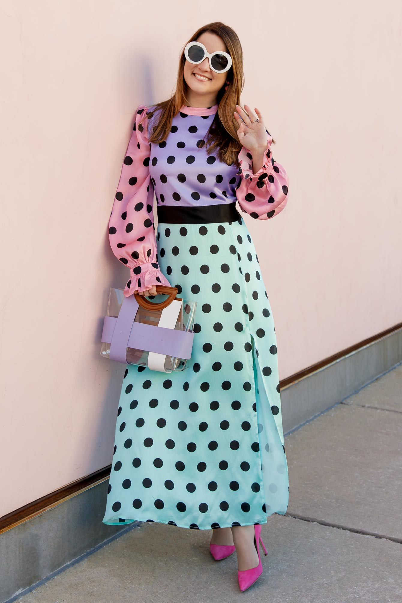 Olivia Rubin Marley Polka Dots Dress