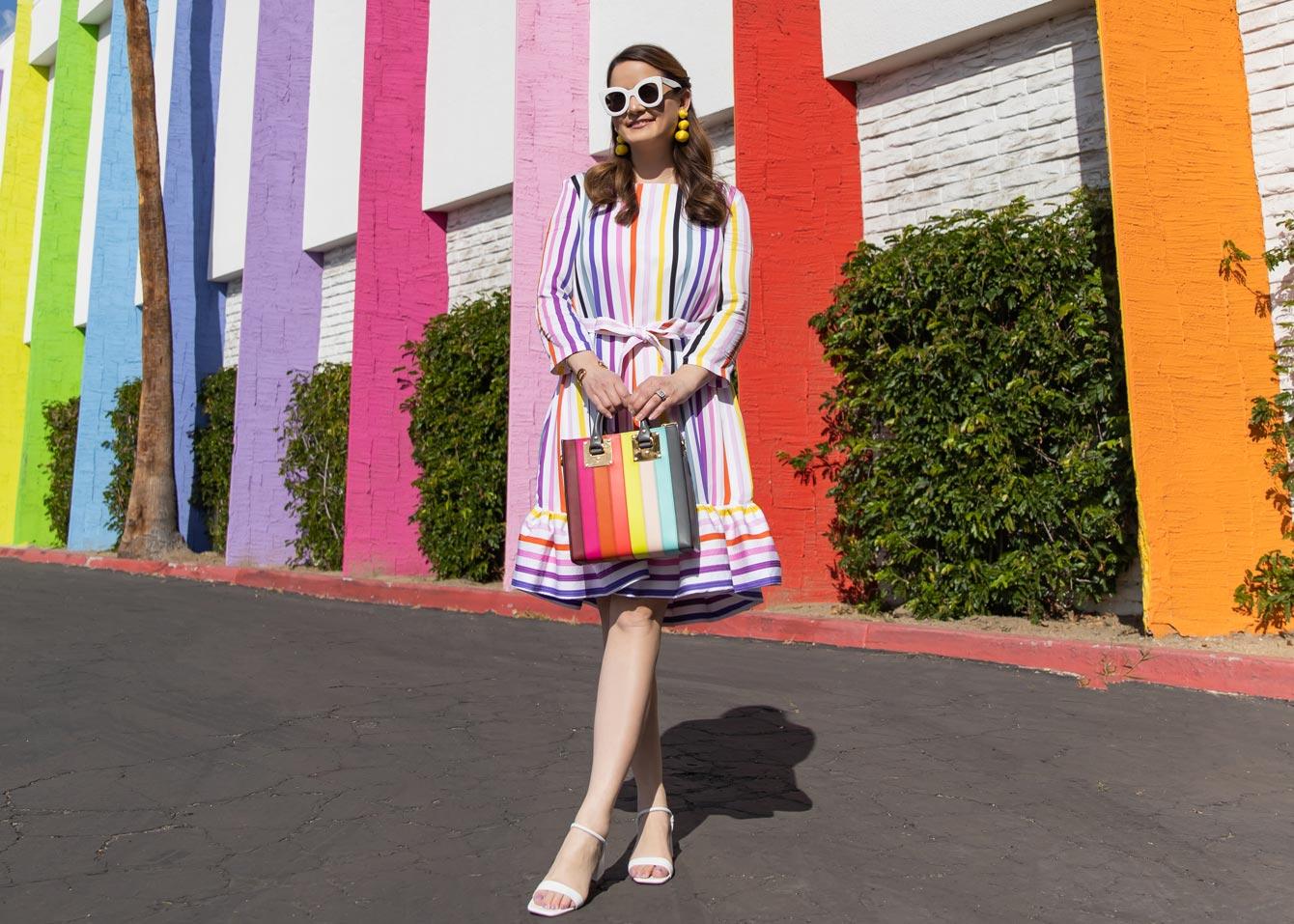 Persifor Rainbow Stripe Dress