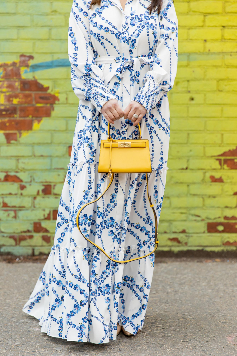 Tory Burch Yellow Lee Radziwill Bag