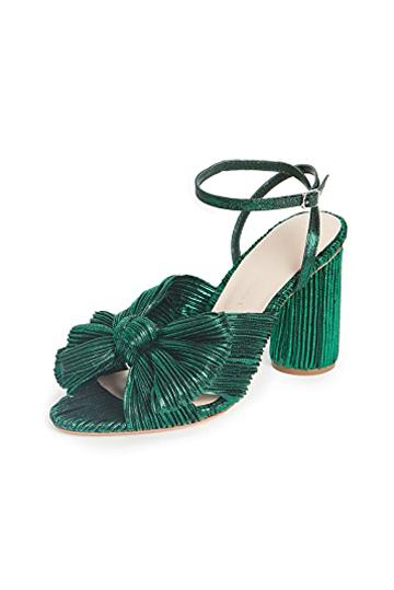 Loeffler Randall Camellia Knot Mules Emerald