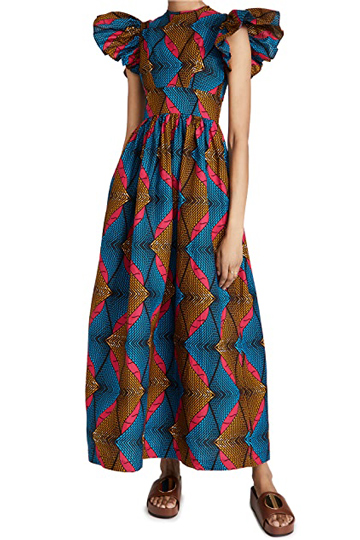 SIKA Ruffle Long Dress