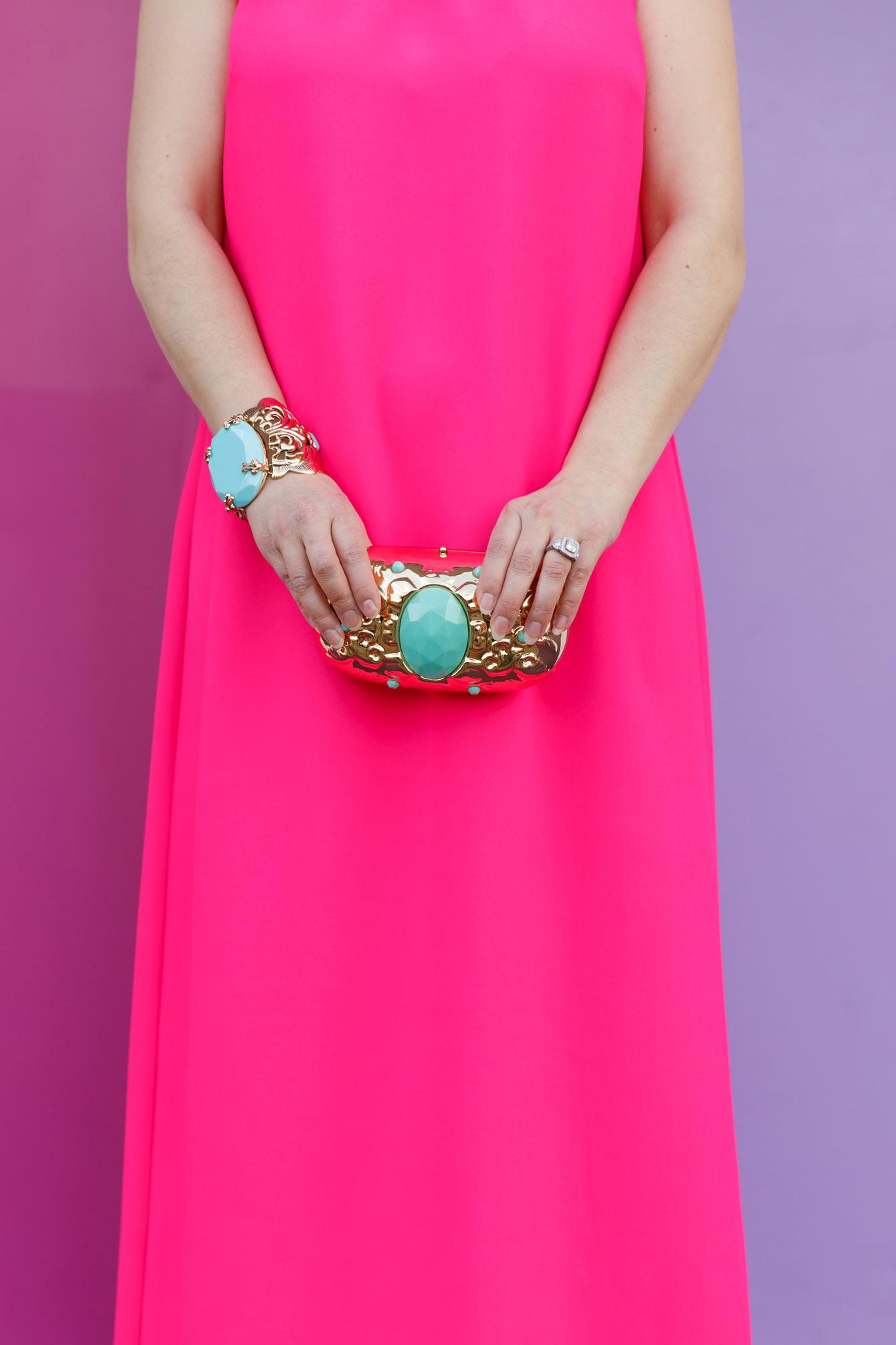 Anna Dello Russo HM Turquoise Clutch