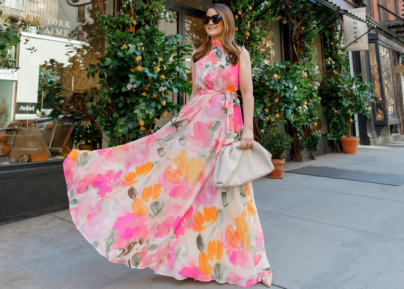 Jennifer Lake Eliza J Spring Floral Maxi Dress