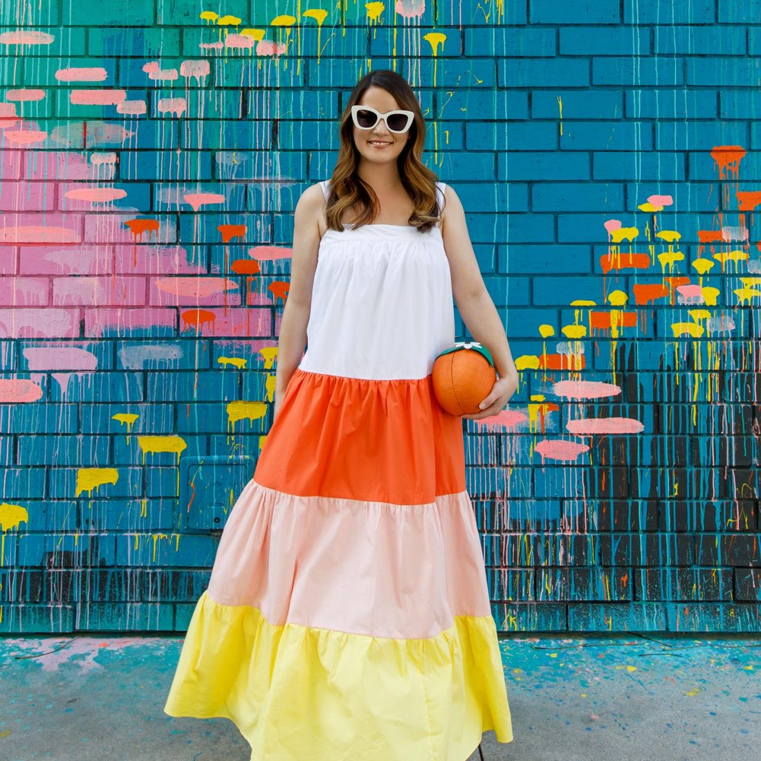 Jennifer Lake English Factory Colorblock Sleeveless Dress
