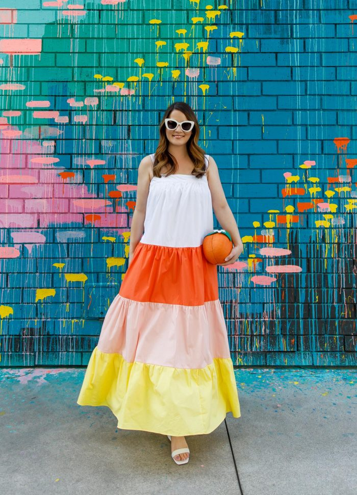 An Affordable Colorblock Tiered Maxi