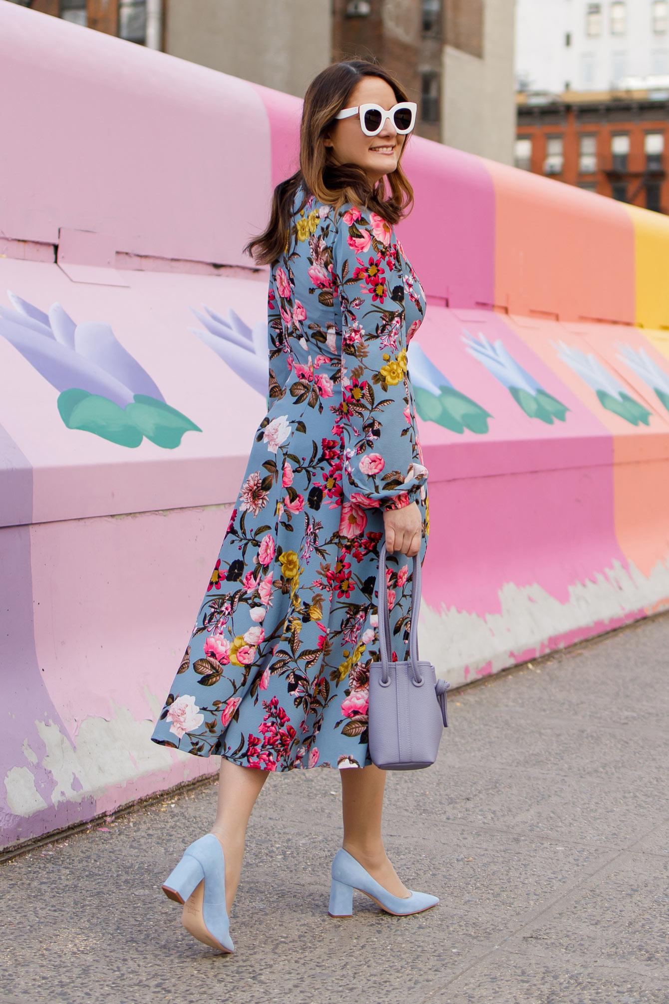 Jennifer Lake Floral Midi Dress