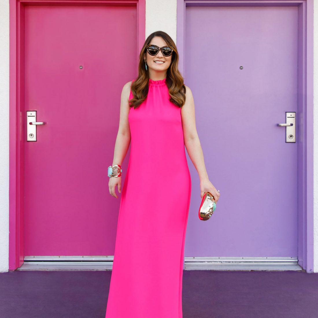 Jennifer Lake Pink Maxi