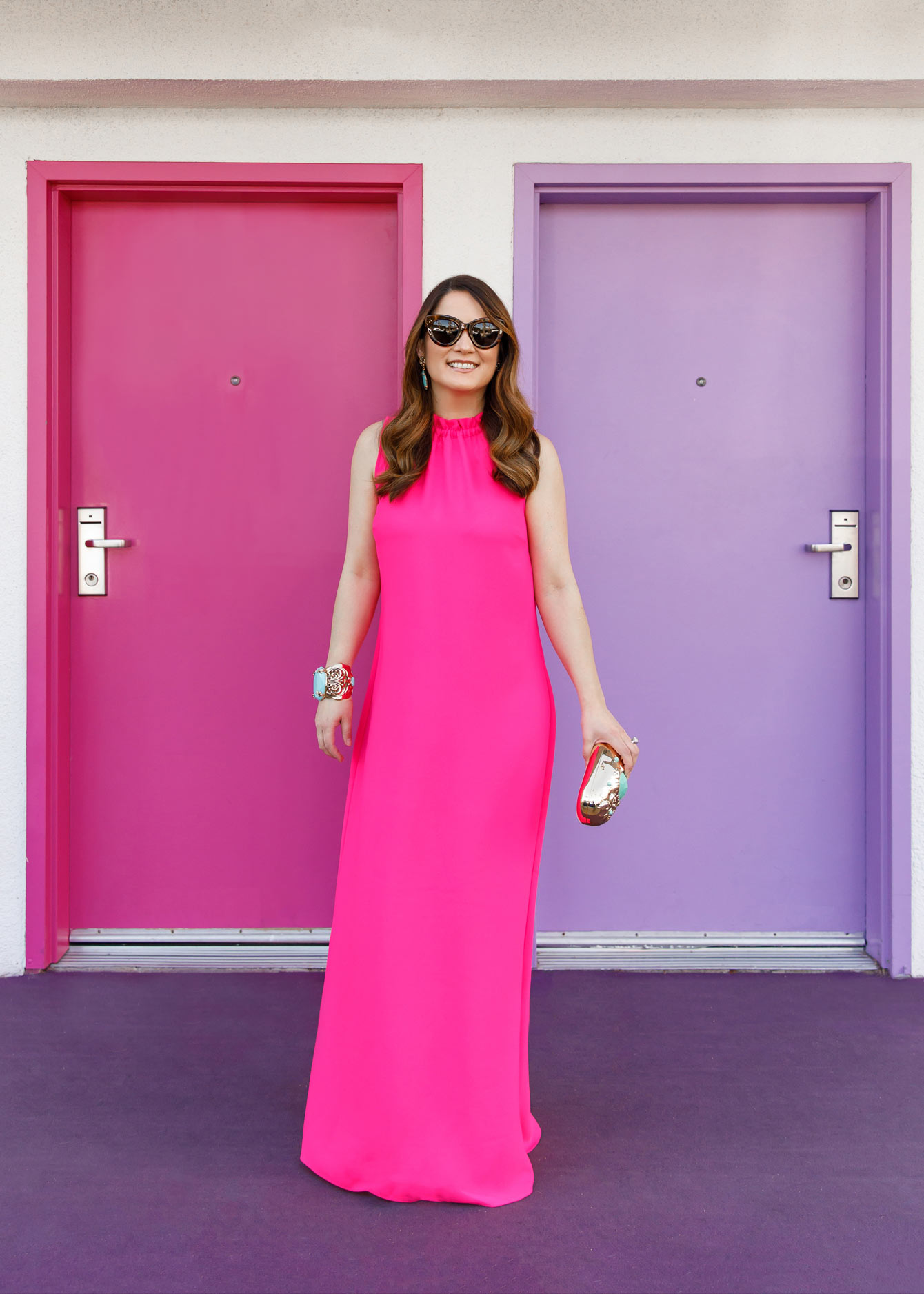 Jennifer Lake Pink Maxi