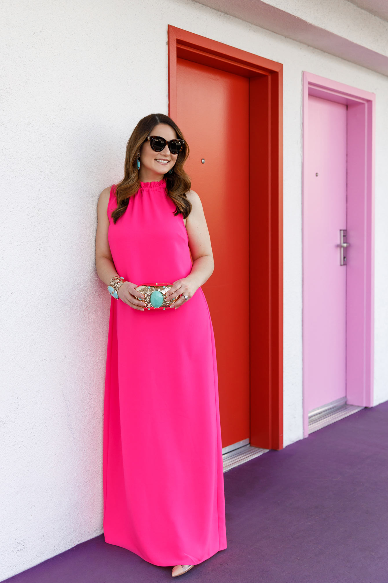 Sail to Sable Hot Pink Maxi Dress