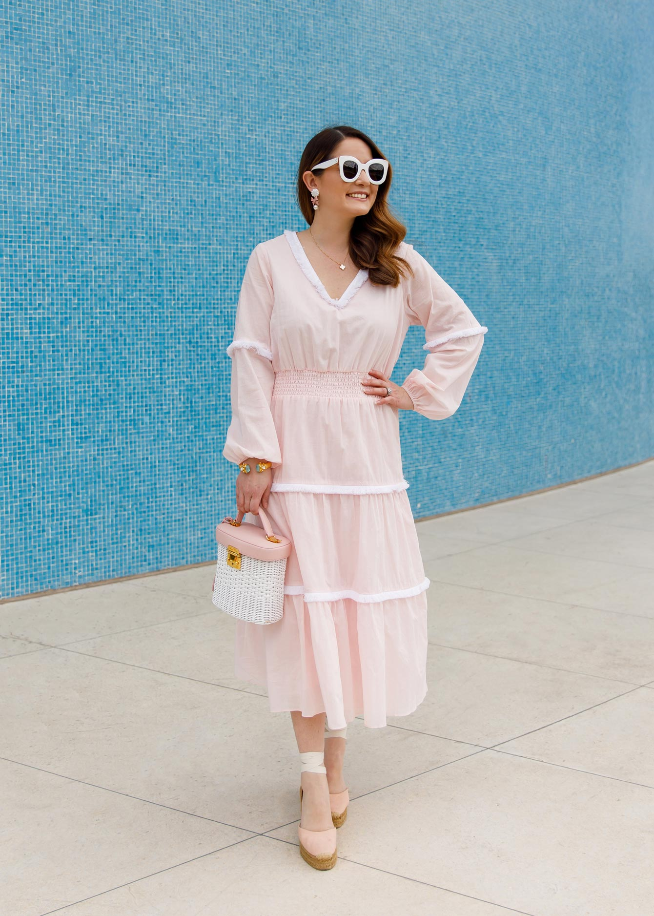 Sail to Sable Pink Fringe Dress