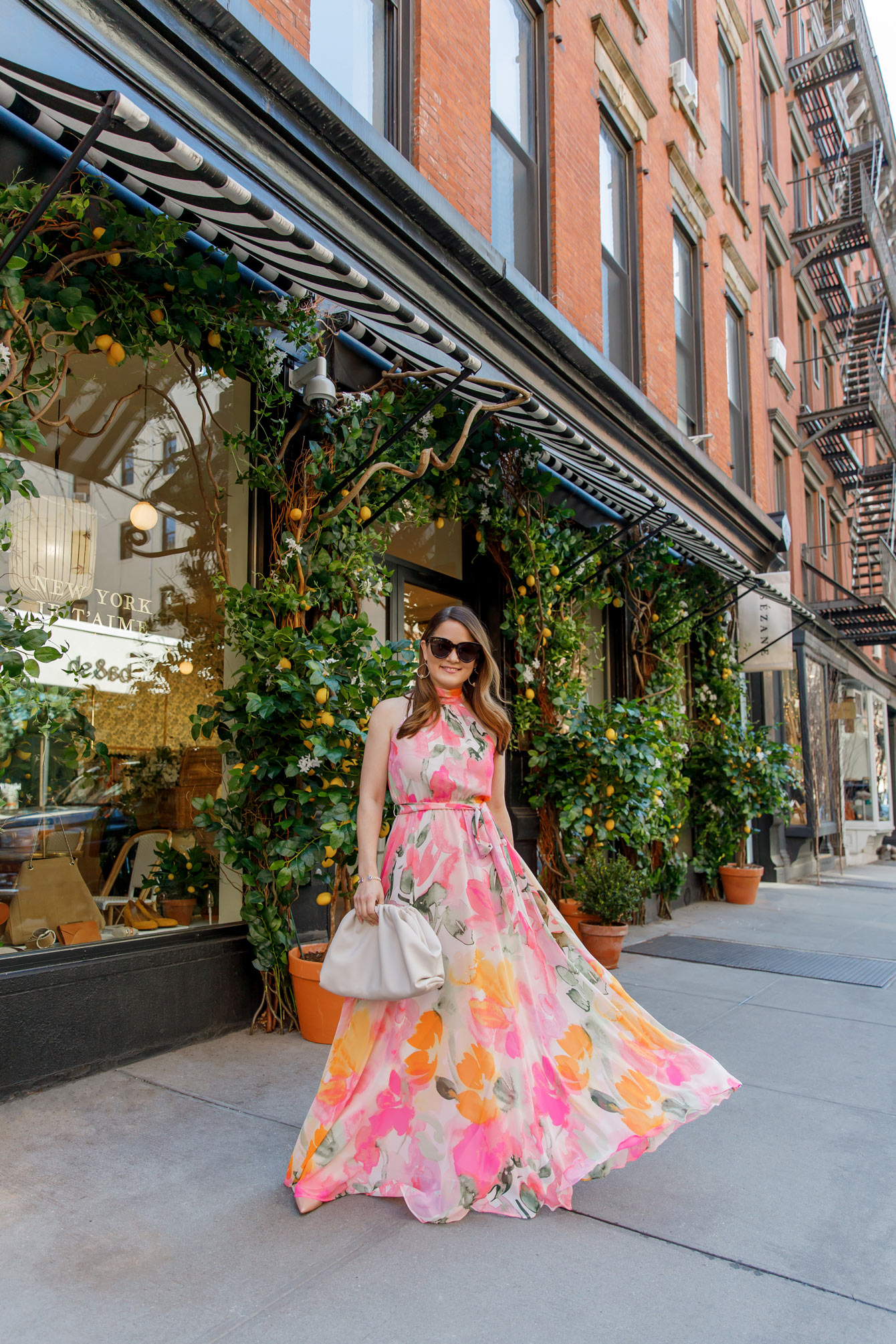 Sezane Floral Windows New York City