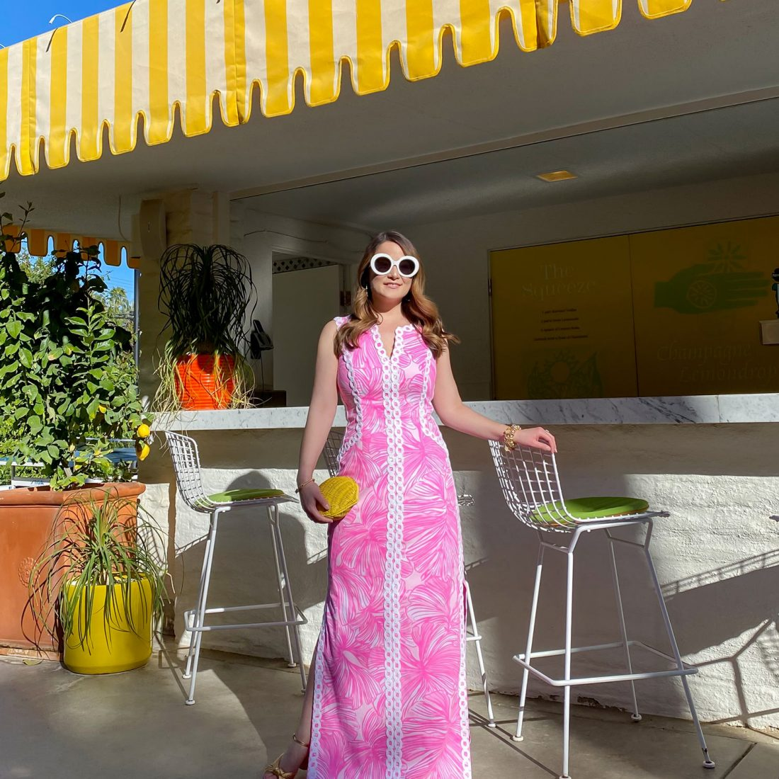 Lilly Pulitzer Pink White Maxi