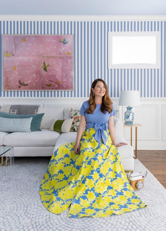 Jennifer Lake Abbey Glass Maxi Skirt