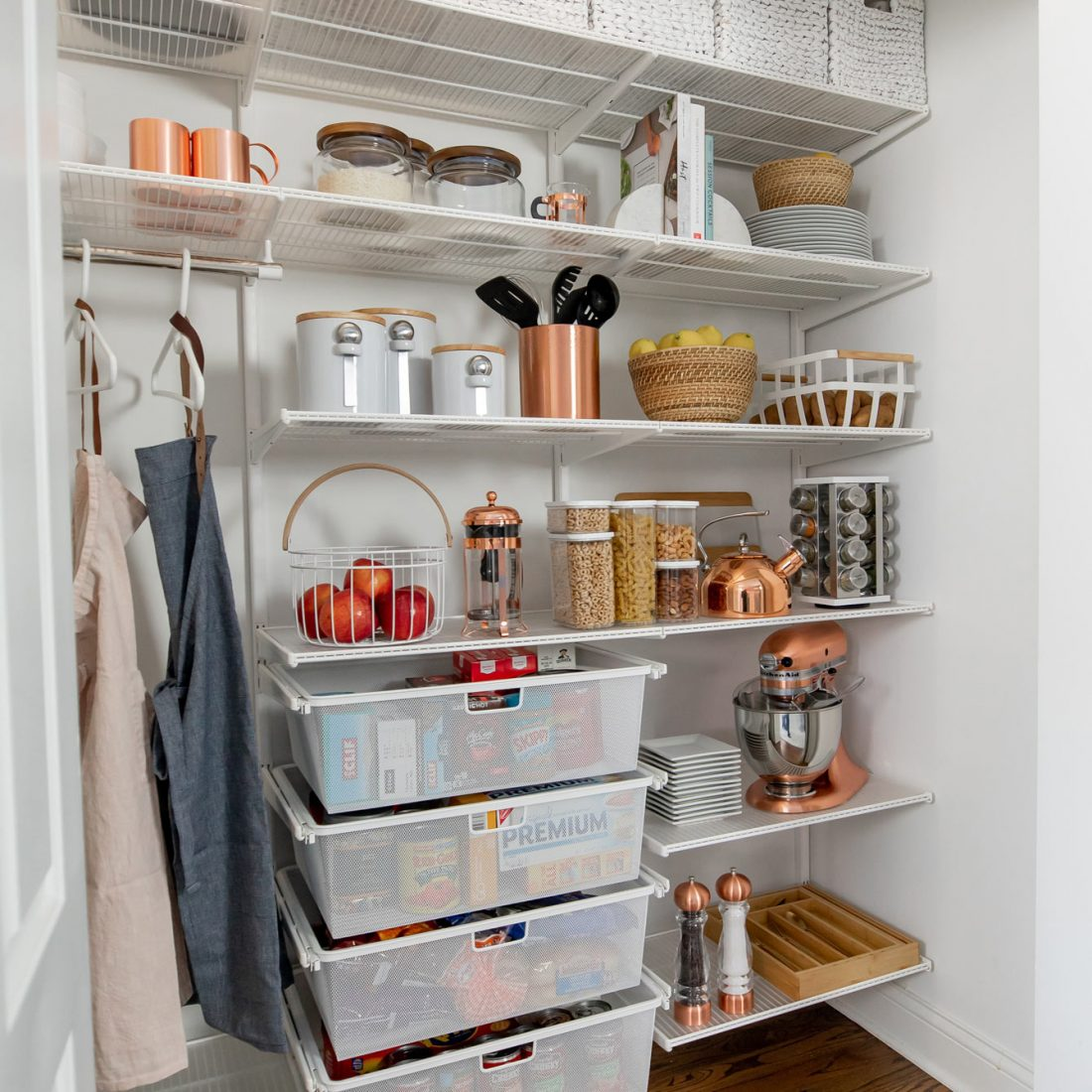 Jennifer Lake Crate Barrel Pantry Organization