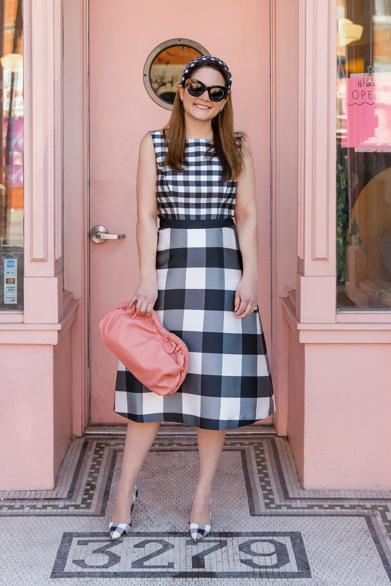 Jennifer Lake Gingham Dress