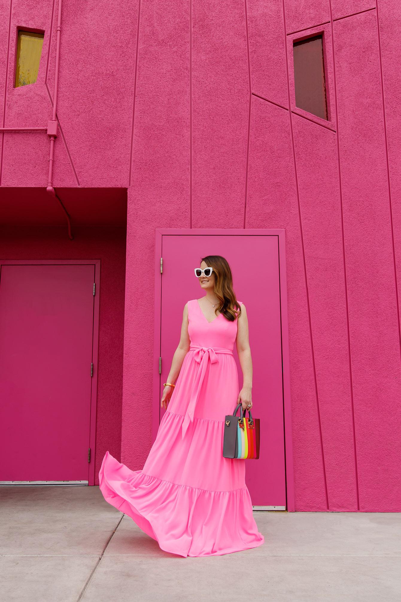 Jennifer Lake Lilly Pulitzer Pink Maxi