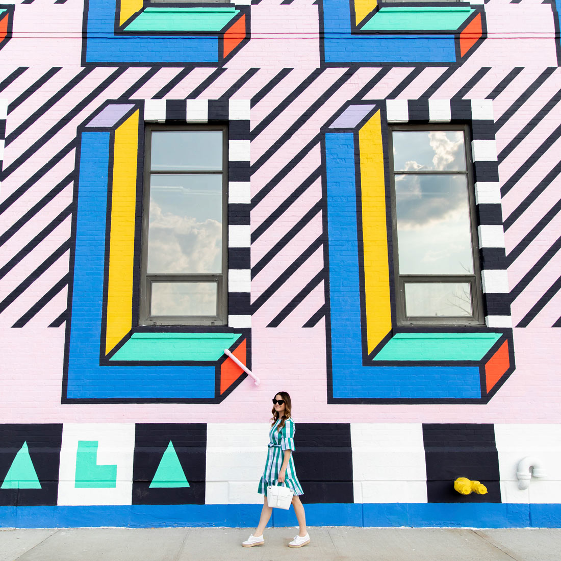Camille Walala Mural Brooklyn New York