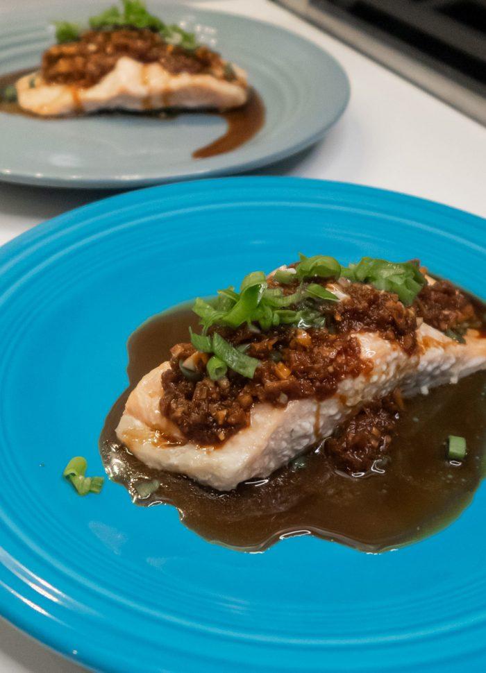 Cooking Charades // Ginger Garlic Salmon Recipe