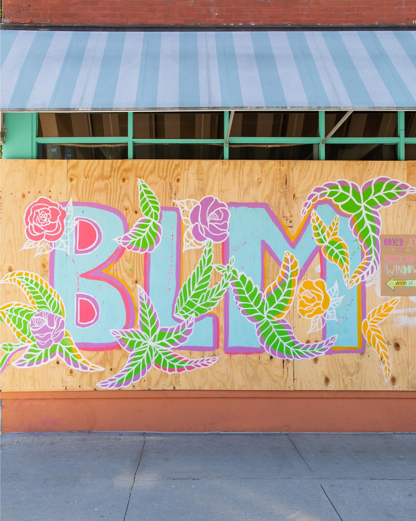 Antique Taco BLM Floral Mural