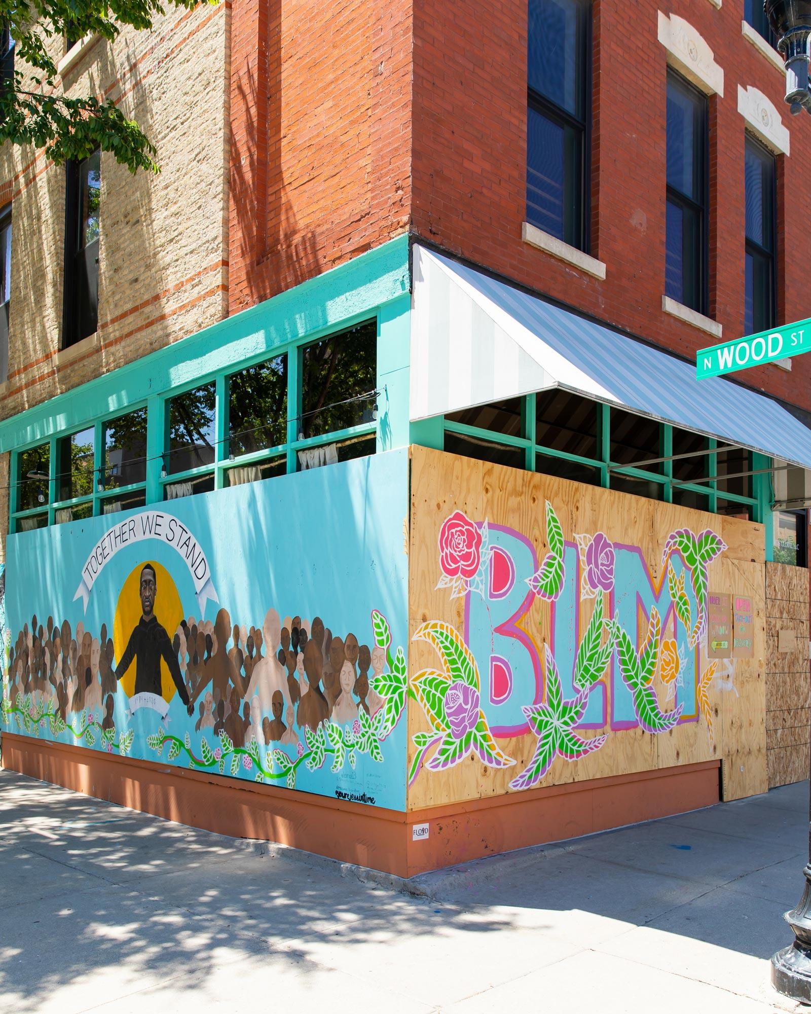 Antique Taco Chicago Murals Black Lives Matter
