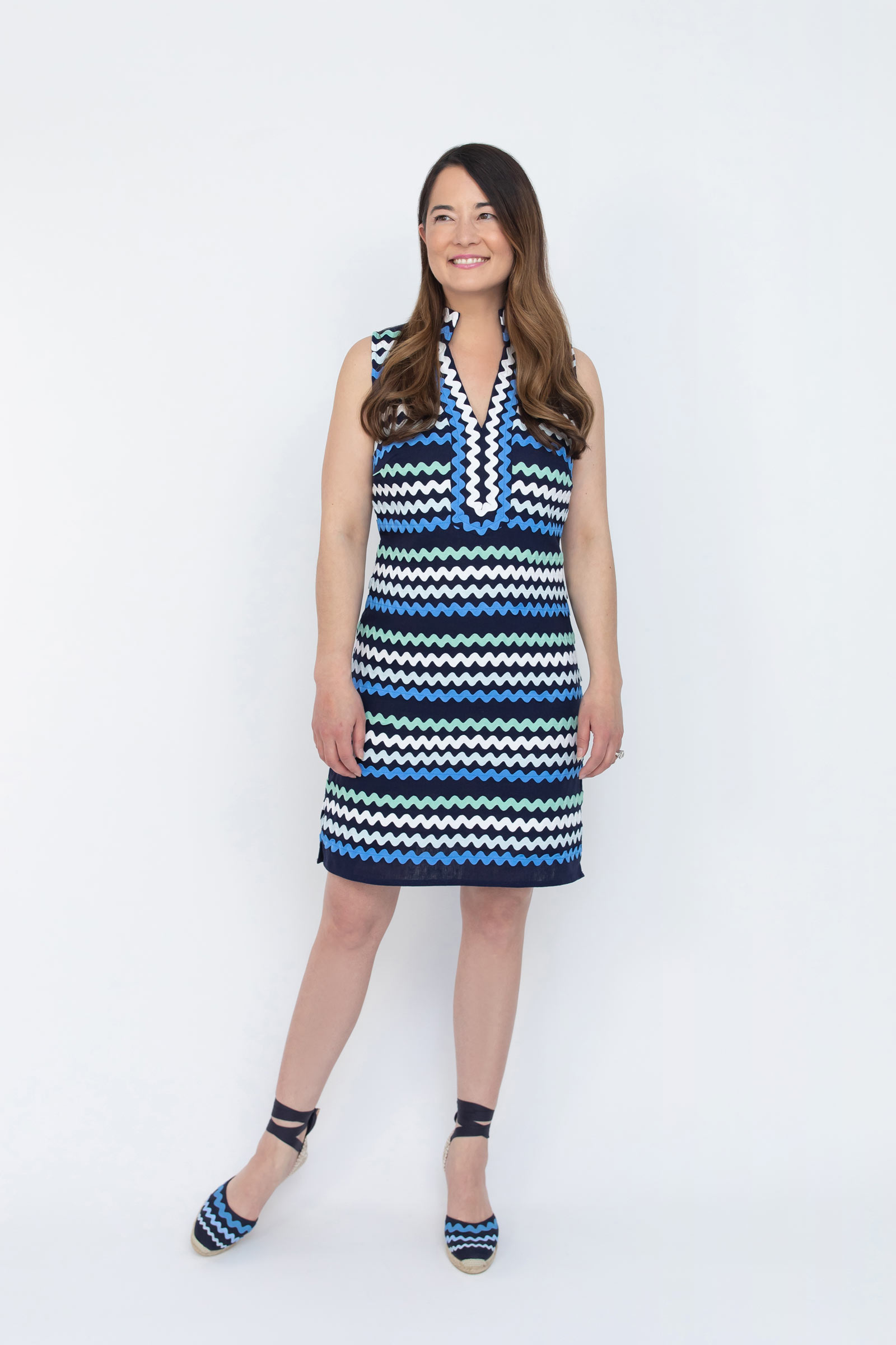 Blue Ombre Ric Rac Tunic Dress