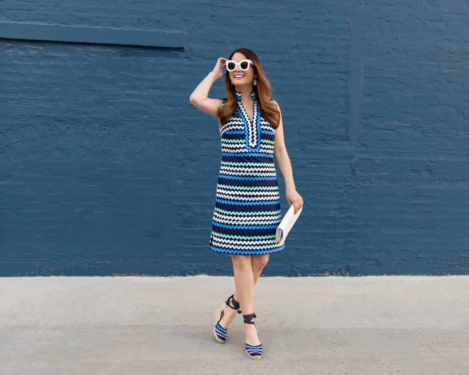 Blue Ric Rac Tunic Dress