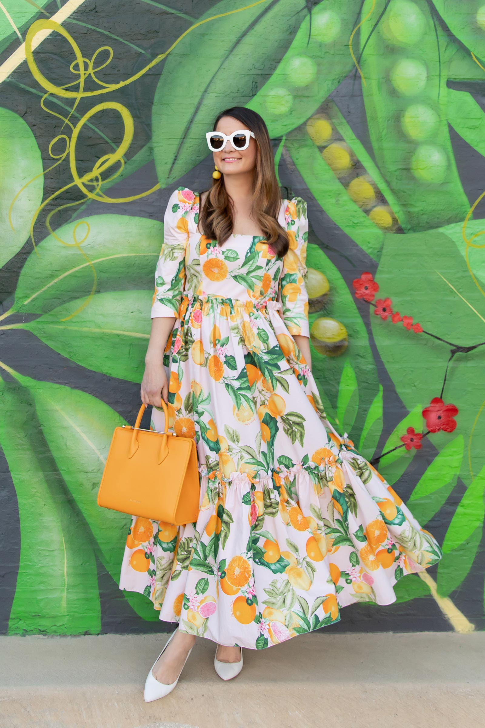 Cara Cara Fruit Print Dress