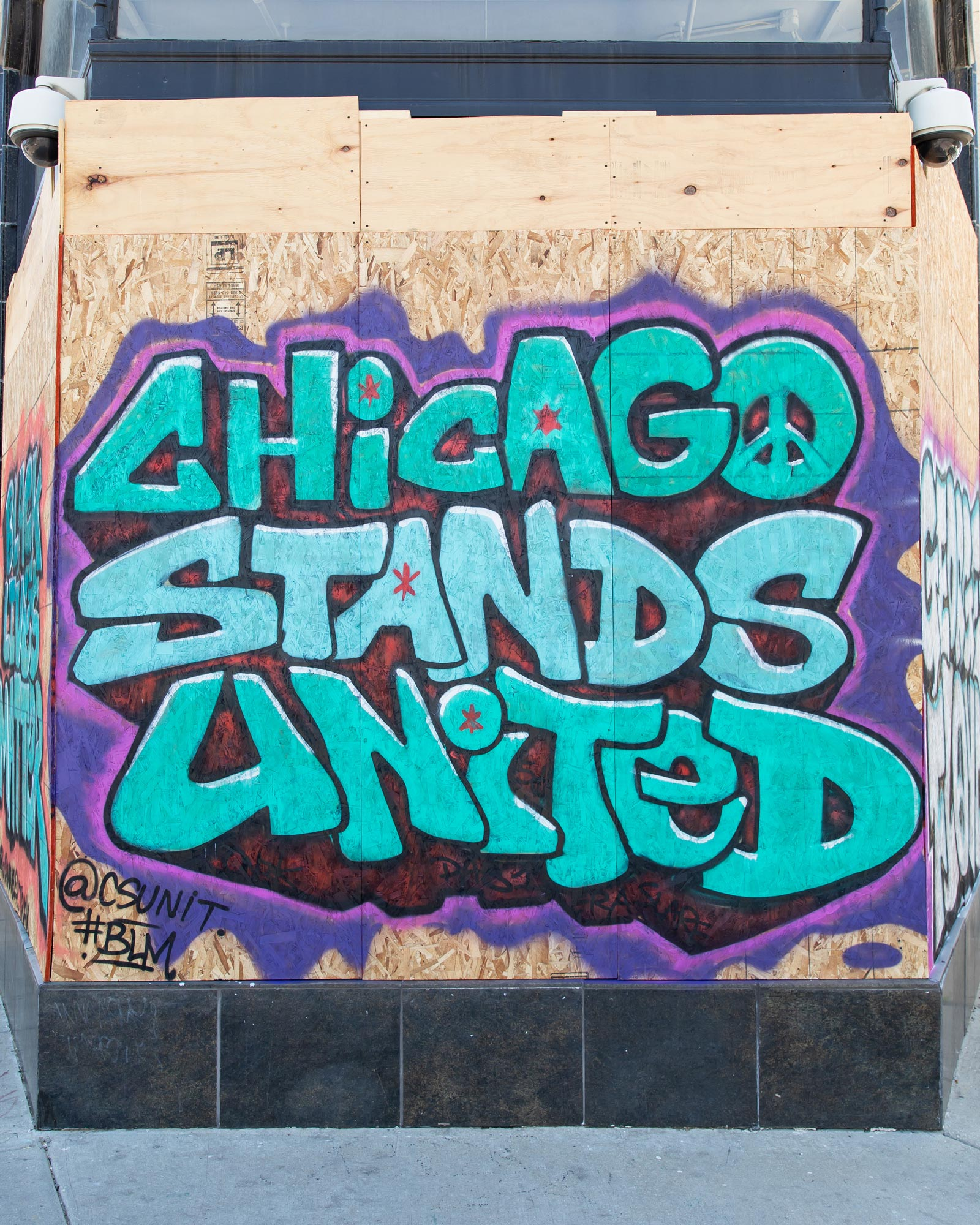 Chicago Stands United Mural Logan Square