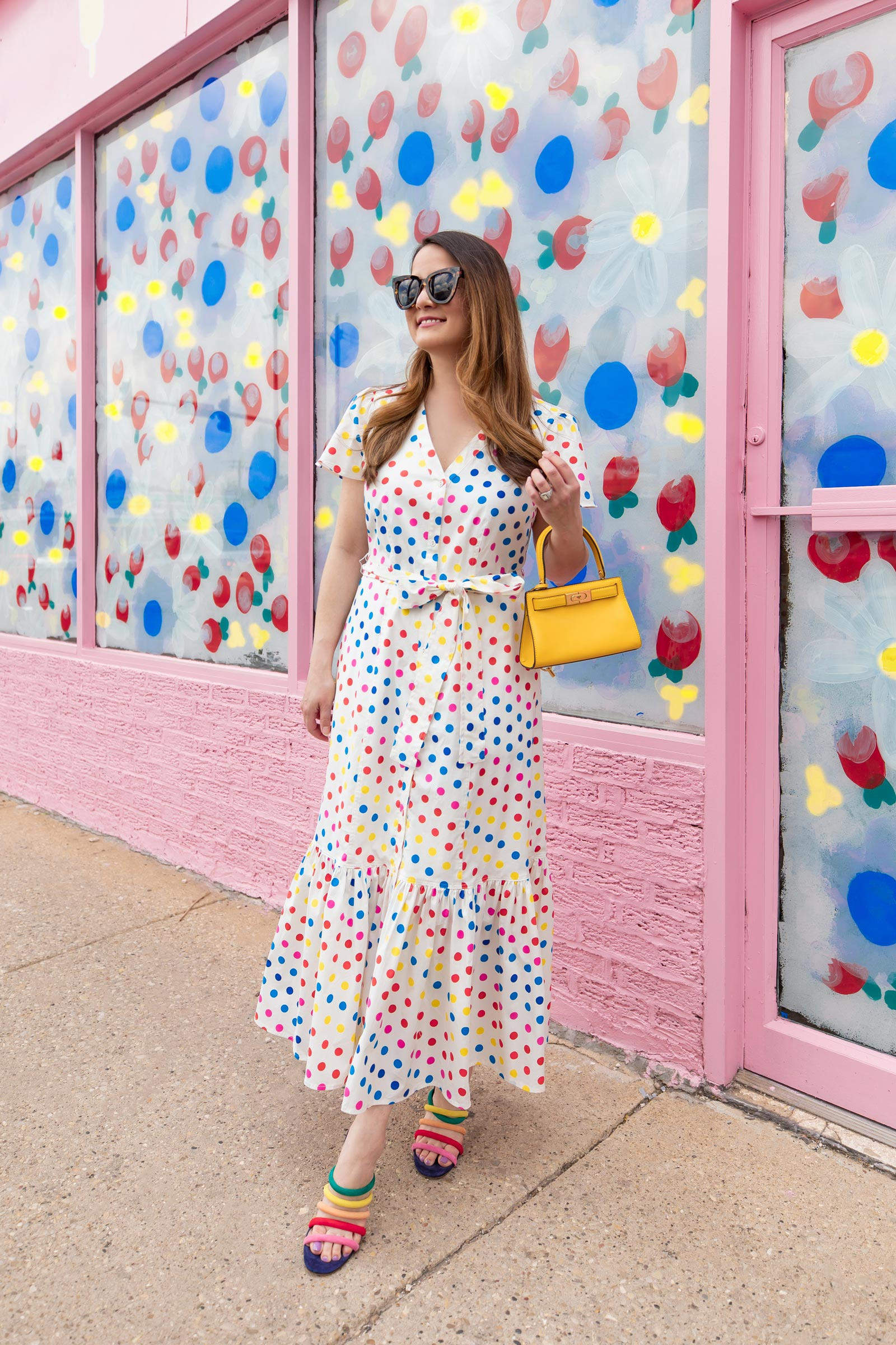 Color Me Courtney Polka Dot Dress