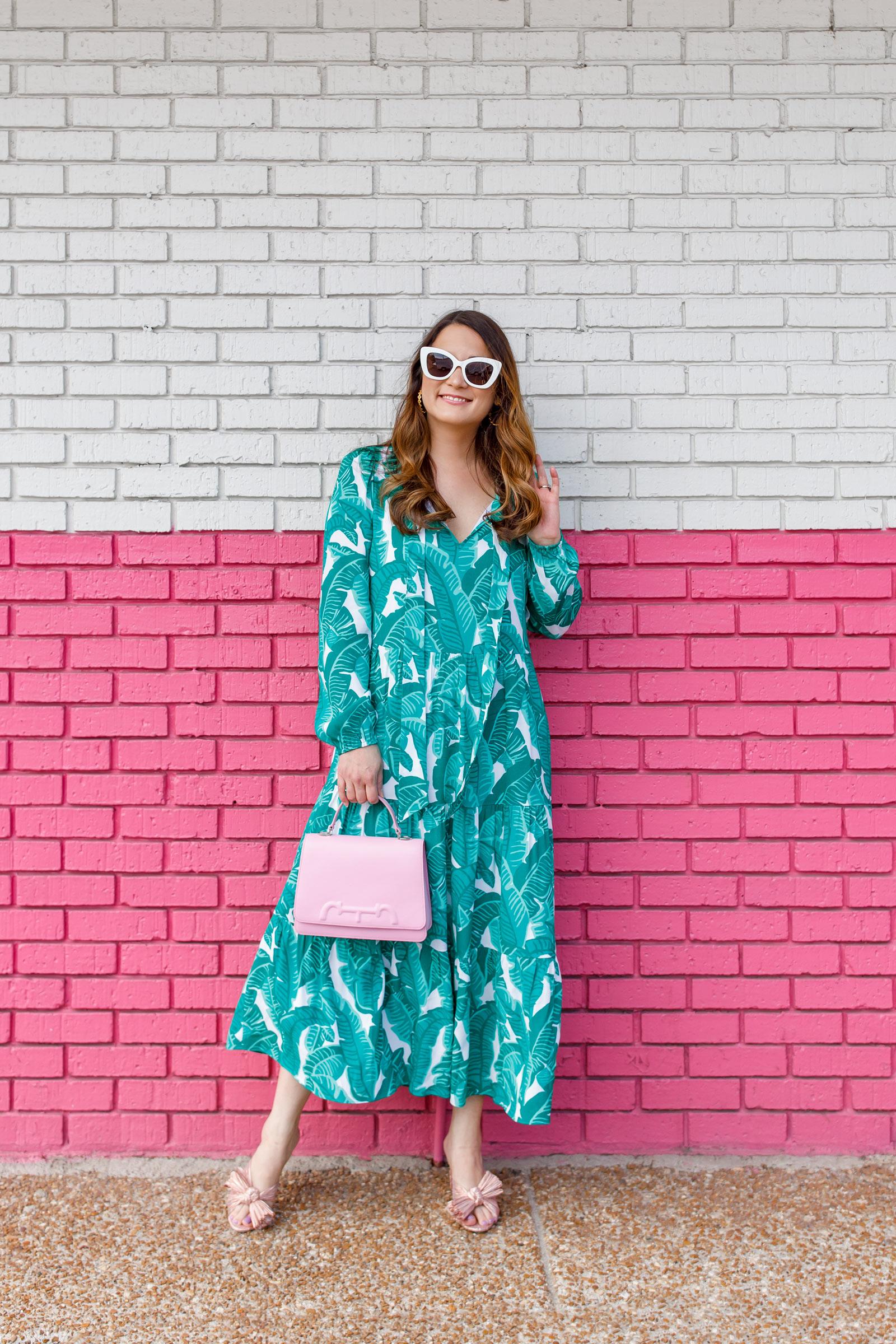 Jennifer Lake Anne Leaf Midi Dress