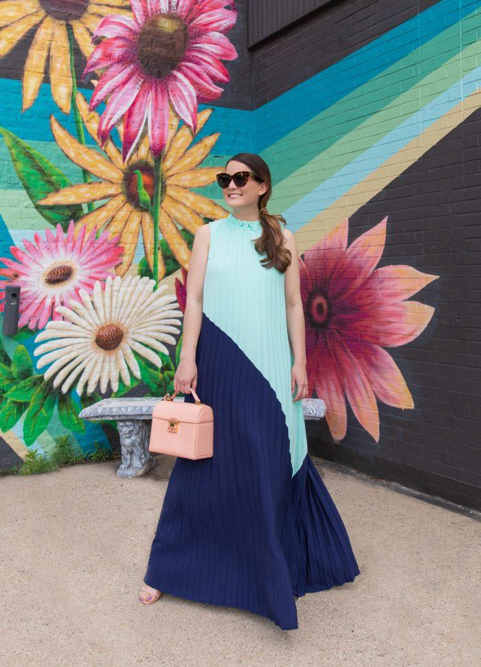 Jennifer Lake Emma Blue Maxi Dress