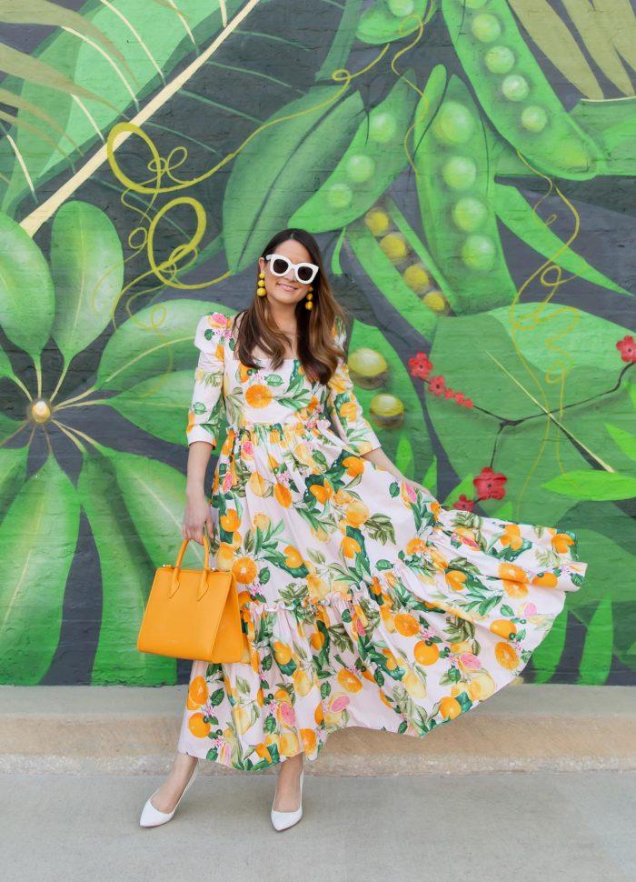 Jennifer Lake Fruit Print Dress