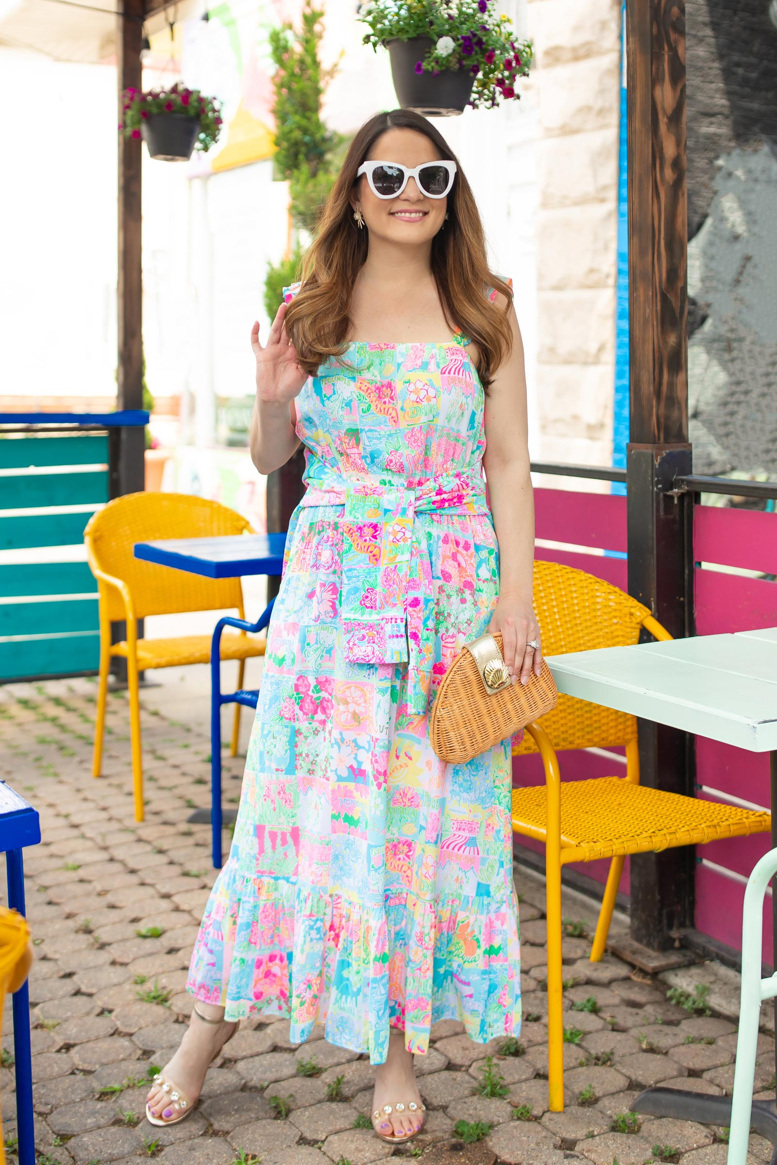 Jennifer Lake Lilly Pulitzer Midi Dress