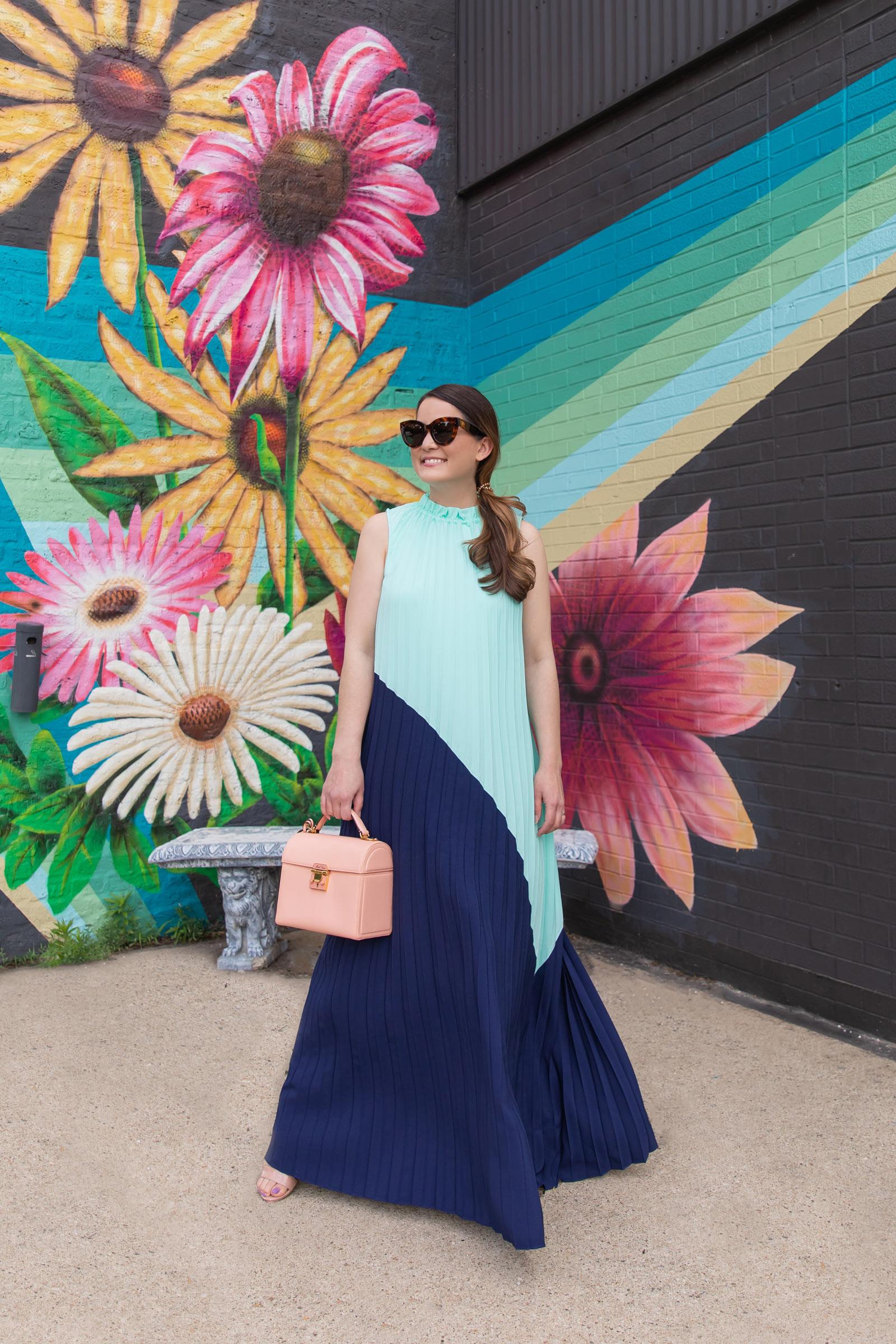 Jennifer Lake Sail to Sable Emma Blue Maxi Dress