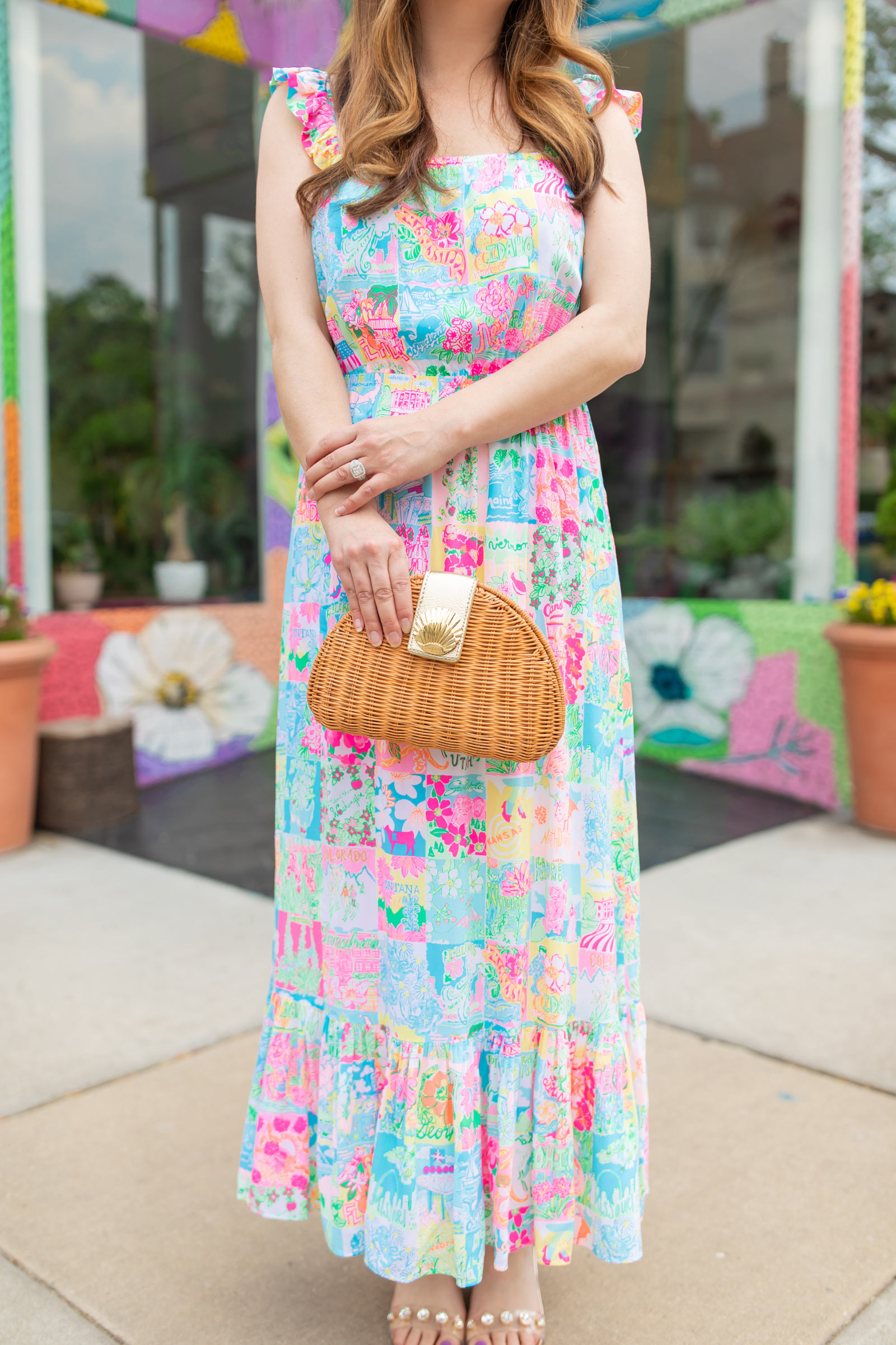 Lilly Pulitzer Redford Wicker Bag