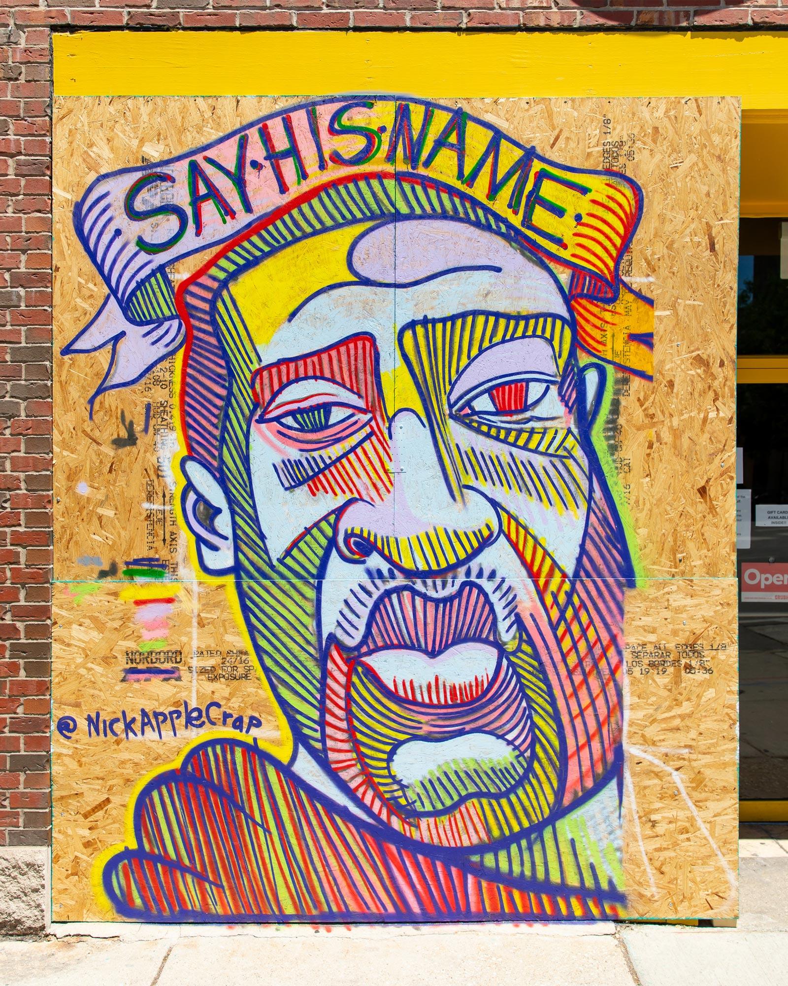 Nick Applecrap George Floyd Mural Chicago
