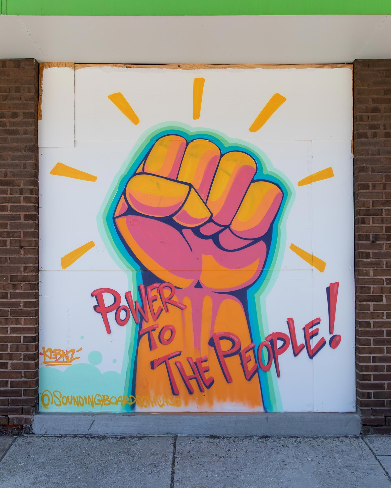 Power to the People Mural Logan Square