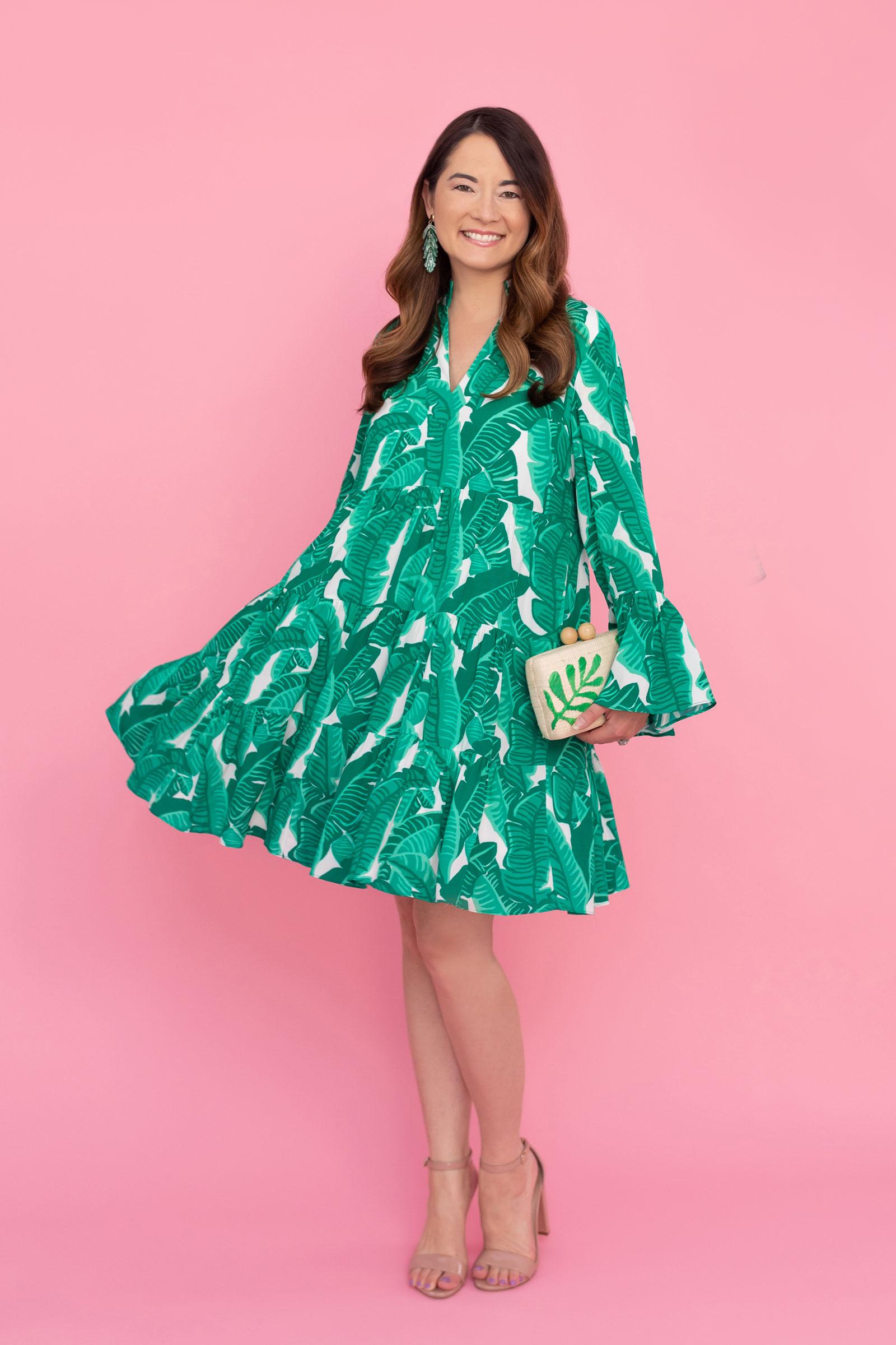 Sail to Sable Charlotte Leaf Print Dress