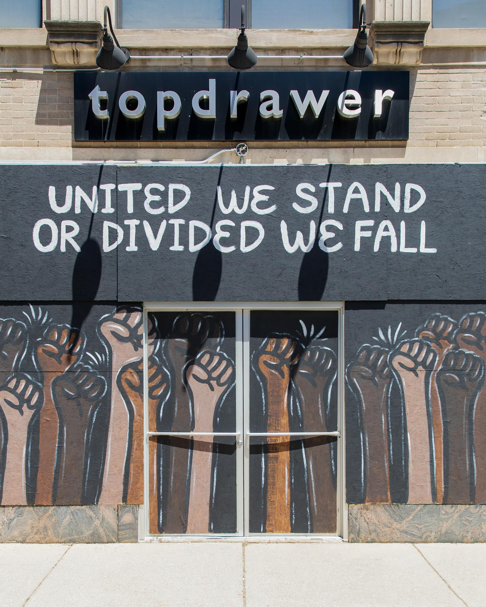 United We Stand Divided We Fall Mural Chicago